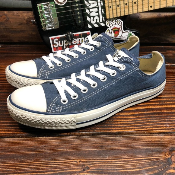 CONVERSE CT All Star Canvas Low Tops in Navy Blue